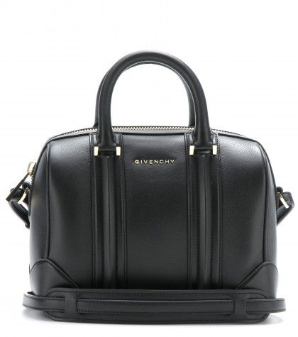 This Givenchy Lucrezia mini leather bowling bag is available at MYTHERESA.com