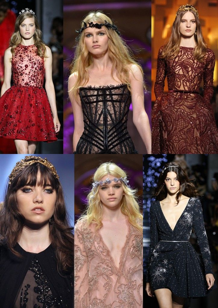 Haute Couture Fall 2015 hedbands as seen on Zuhair Murad, Elie Saab and Armani Privé Fashion Shows