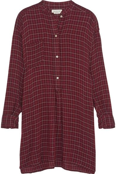 Isabel Marant Étoile checked flannel shirt dress available at NET-A-PORTER