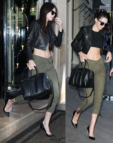 Kendall Jenner leaves the 'CHANEL' office on July 6, 2015 in Paris, France.
