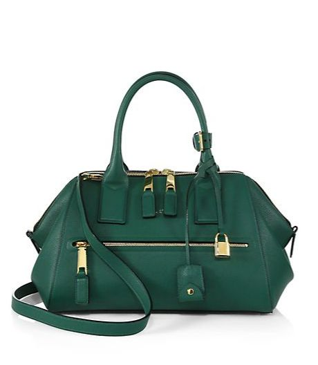 Incognito small grass green textured-leather top-handle bag available at SAKS