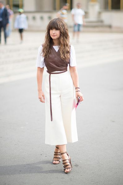Miroslava Duma out and about Paris during Fall 2015 fashion week
