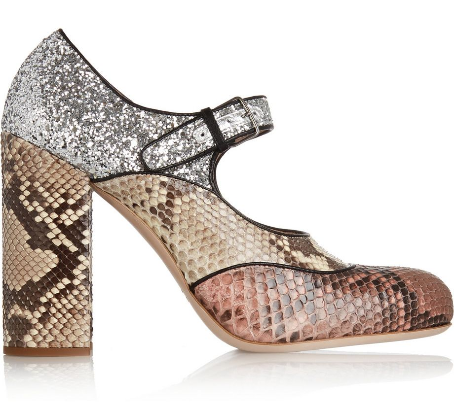 Love the lookbook glitter-finished python Mary Jane pumps, though... Also available at NET-A-PORTER