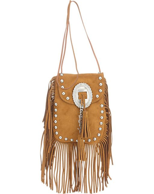 Get Kourtney's Saint Laurent Anita suede fringe crossbody bag at BARNEY'S