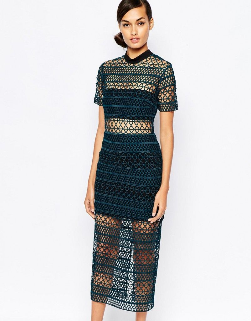 Aimee's column midi dress available at ASOS