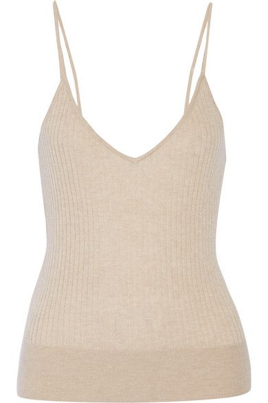 Tamara Mellon ribbed cashmere top available at NET-A-PORTER