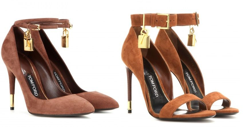 Tom Ford embellished suede pumps available at MYTHERESA.com
