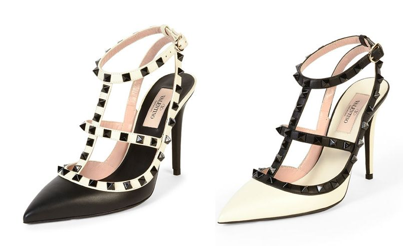 valentino-rockstud-colorblock-ivory-black-leather-pumps-fall-2015