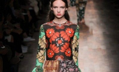 valentino-ss15-multicolor-floral-print-tiered-dress