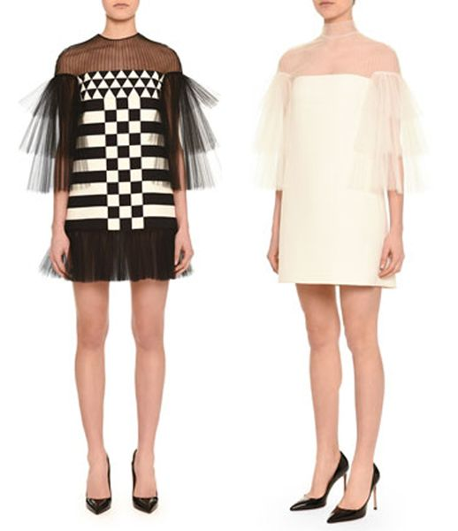 valentino-tiered-flutter-sleeve-tulle-inset-mini-dresses