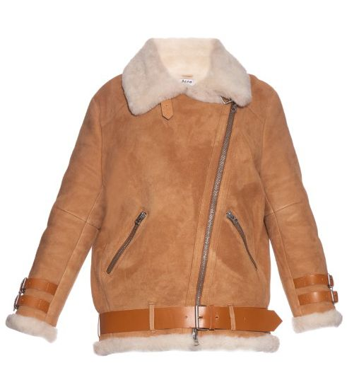 Acne Studios Velocite Suede Aviator jacket availale at MATCHESFASHION.com
