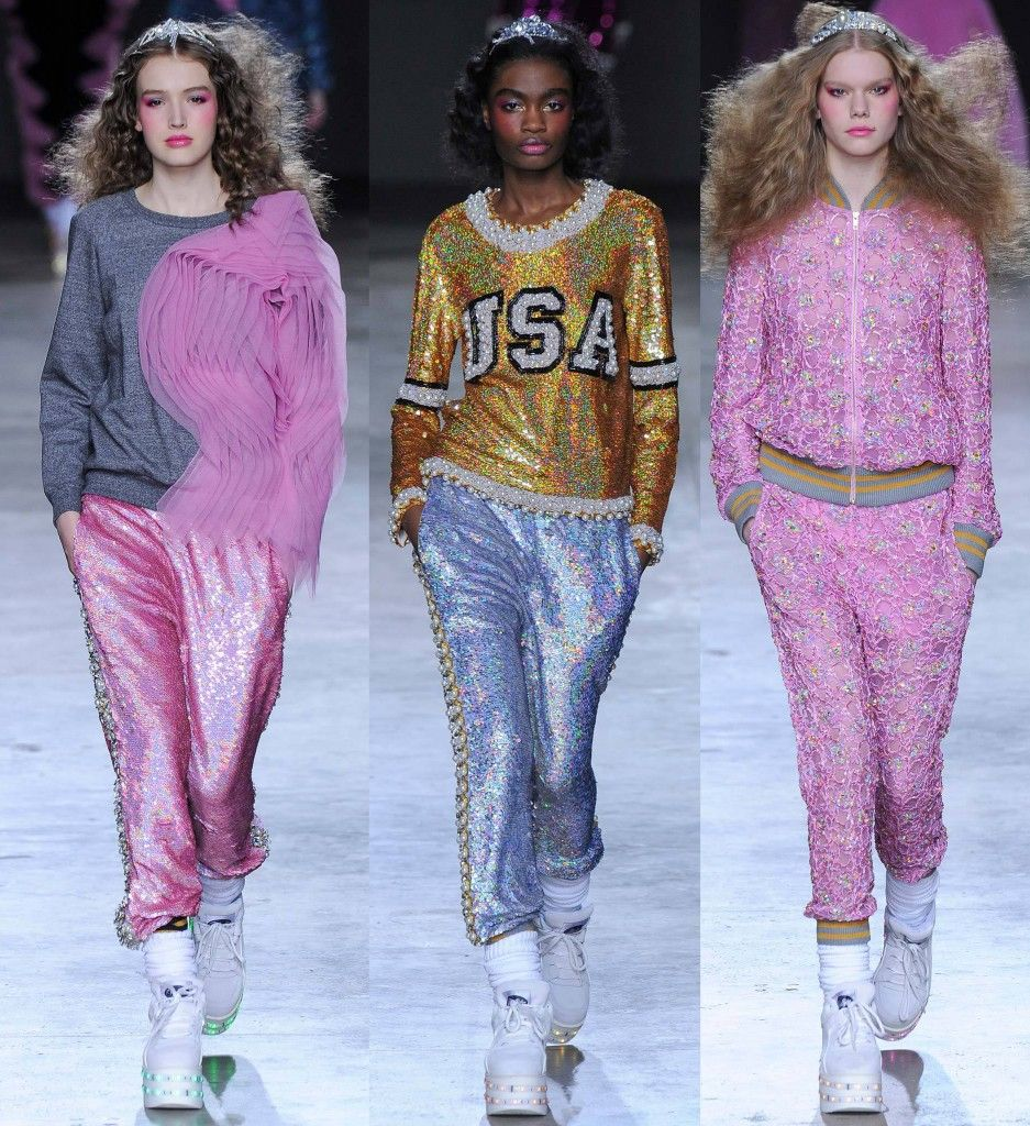 Always loves Ashish sequined joggers!