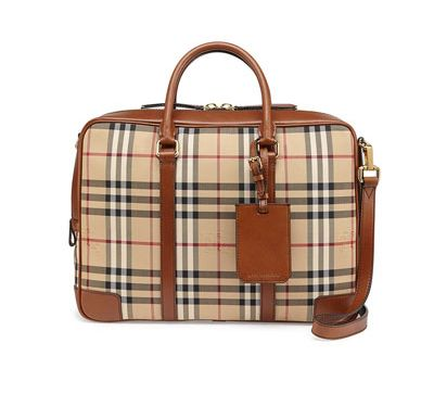 Burberry check briefcase available at NEIMAN MARCUS