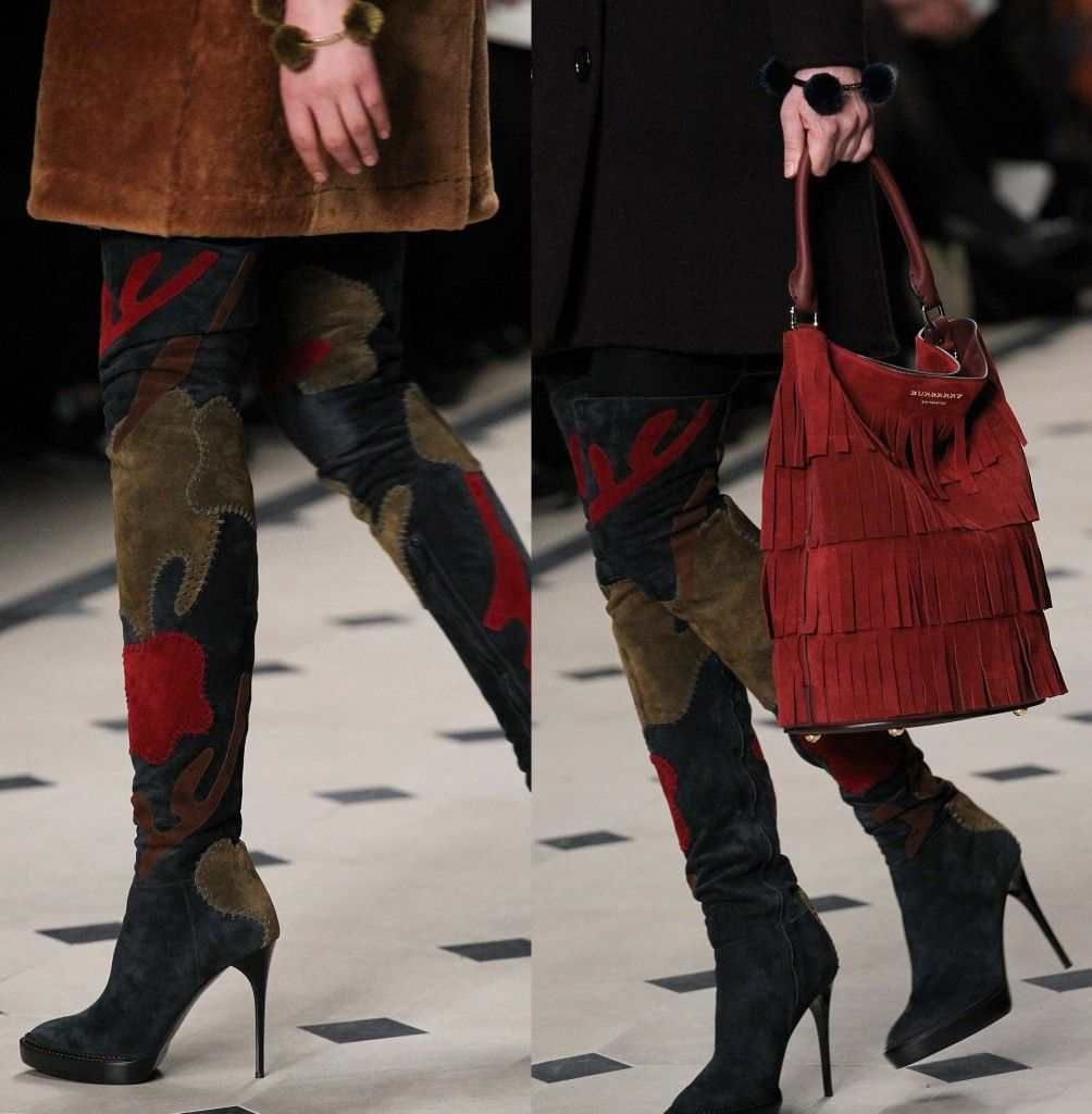 Burberry Prorsum FW15 suede over-yhe-knee boots