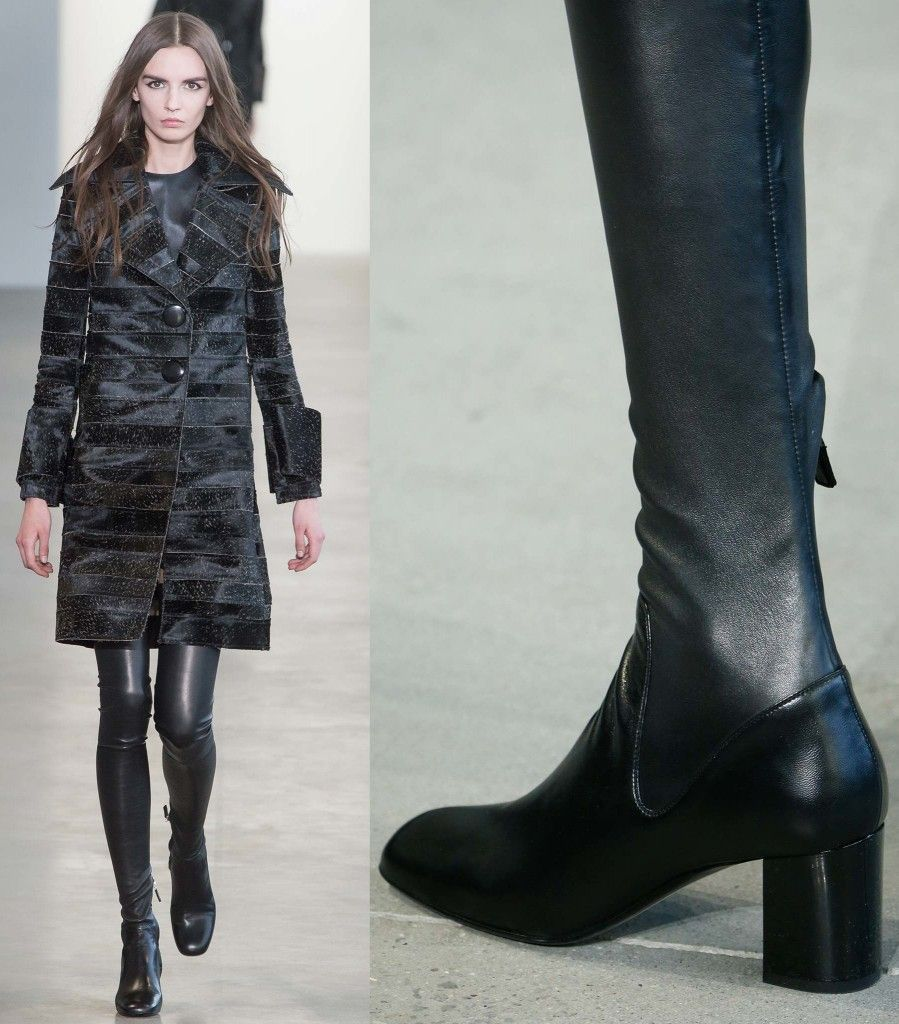 Calvin Klein Collection leather over-the-knee boots available at MYTHERESA.com