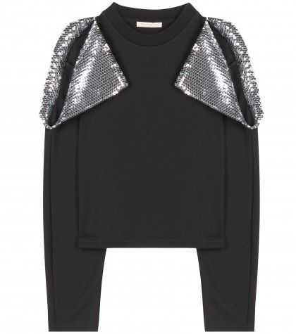 Christopher Kane sequin-embellished cotton sweater exclusive to MYTHERESA.com