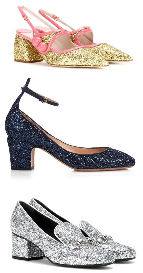 Miu Miu glitter slingbacks available at MYTHERESA.com