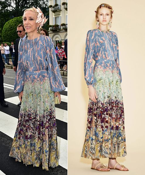 Franca Sozzani looking gorgeous in Valentino Resort 2016
