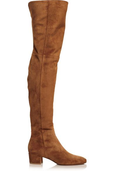 Gianvito Rossi tan suede boots available at NET-A-PORTER