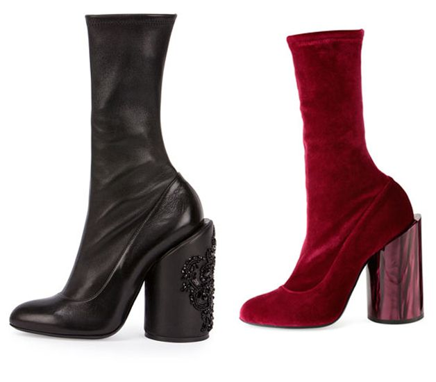 Givenchy stretch- velvet boots available at BERGDORF GOODMAN
