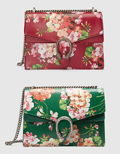 Gucci Dionysus cerise leather blooms print bag available at GUCCI.COM