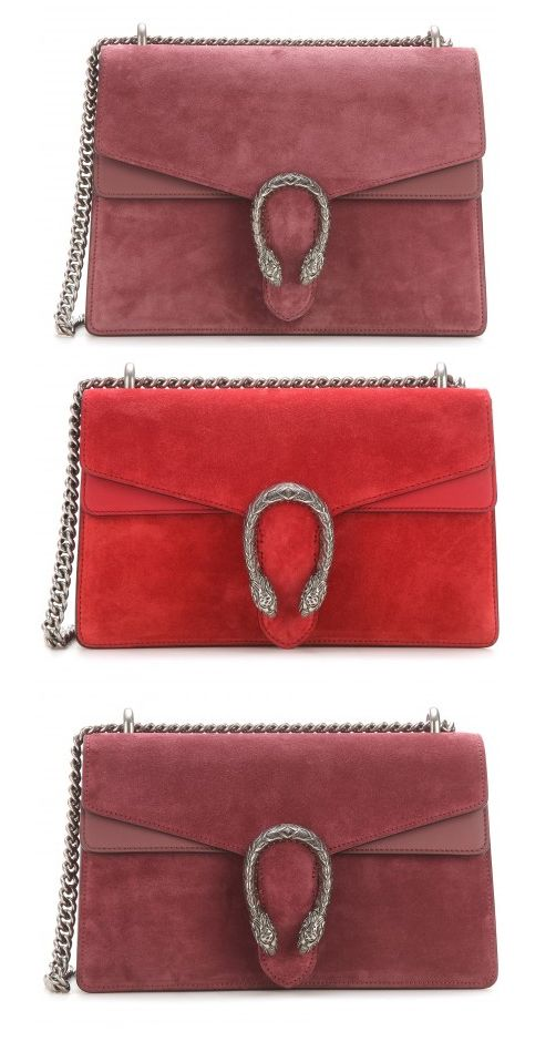 Soft-rose suede and leather shoulder bag available at MYTHERESA.com