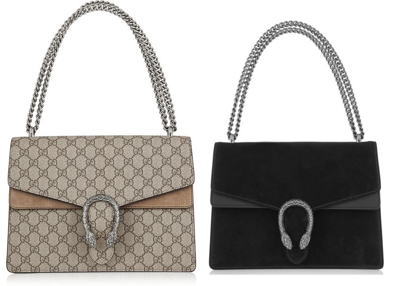 Gucci Dionysus coated canvas and suede shoulder bag available at NET-A-PORTER
