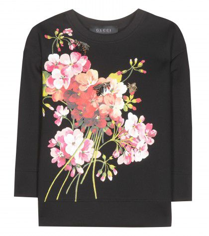 Gucci embellished floral-printed sweater available at MYTHERESA.com