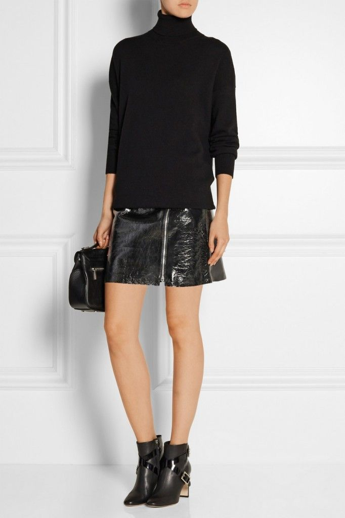 Iro black patent-leather mini skirt available at NET-A-PORTER