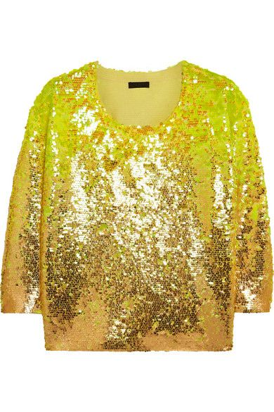 J.Crew Collection sequined merino wool sweater available at NET-A-PORTER
