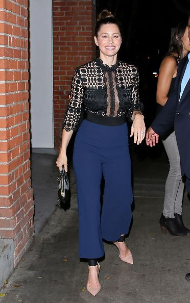Jessica Biel out for a showbiz bash in Los Angeles.