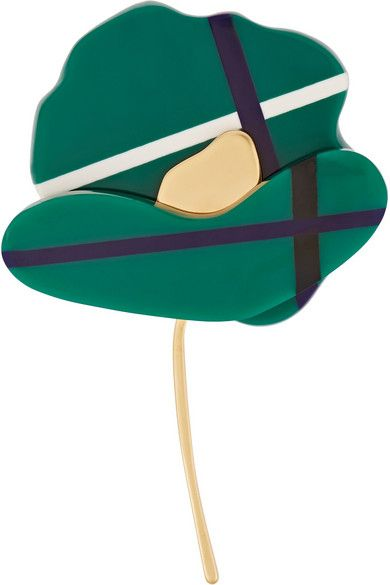 Marni sculptural flower brooch available at NET-A-PORTER