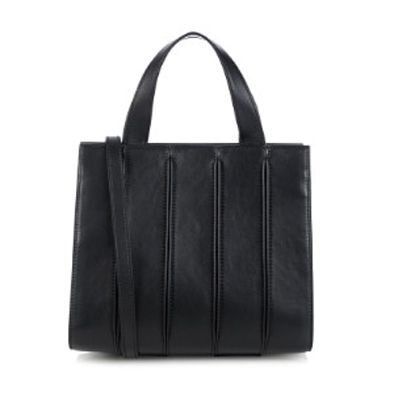 Max Mara Whitney small black leather ote bag available at MATCHESFASHION.com
