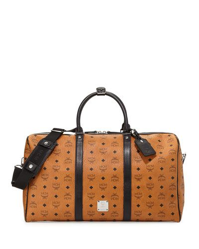 MCM monogrammed canvas weekender bag available at NEIMAN MARCUS