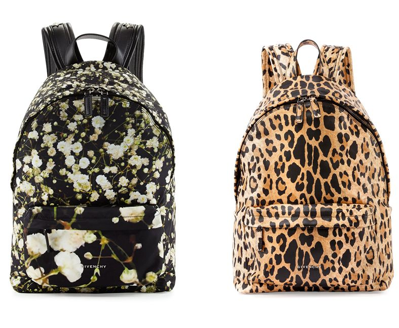 Givenchy leopard-print nylon backpack available at NEIMAN-MARCUS