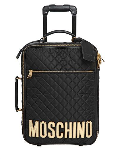 Moschino quilted nylon trolley available at LUISAVIAROMA.com