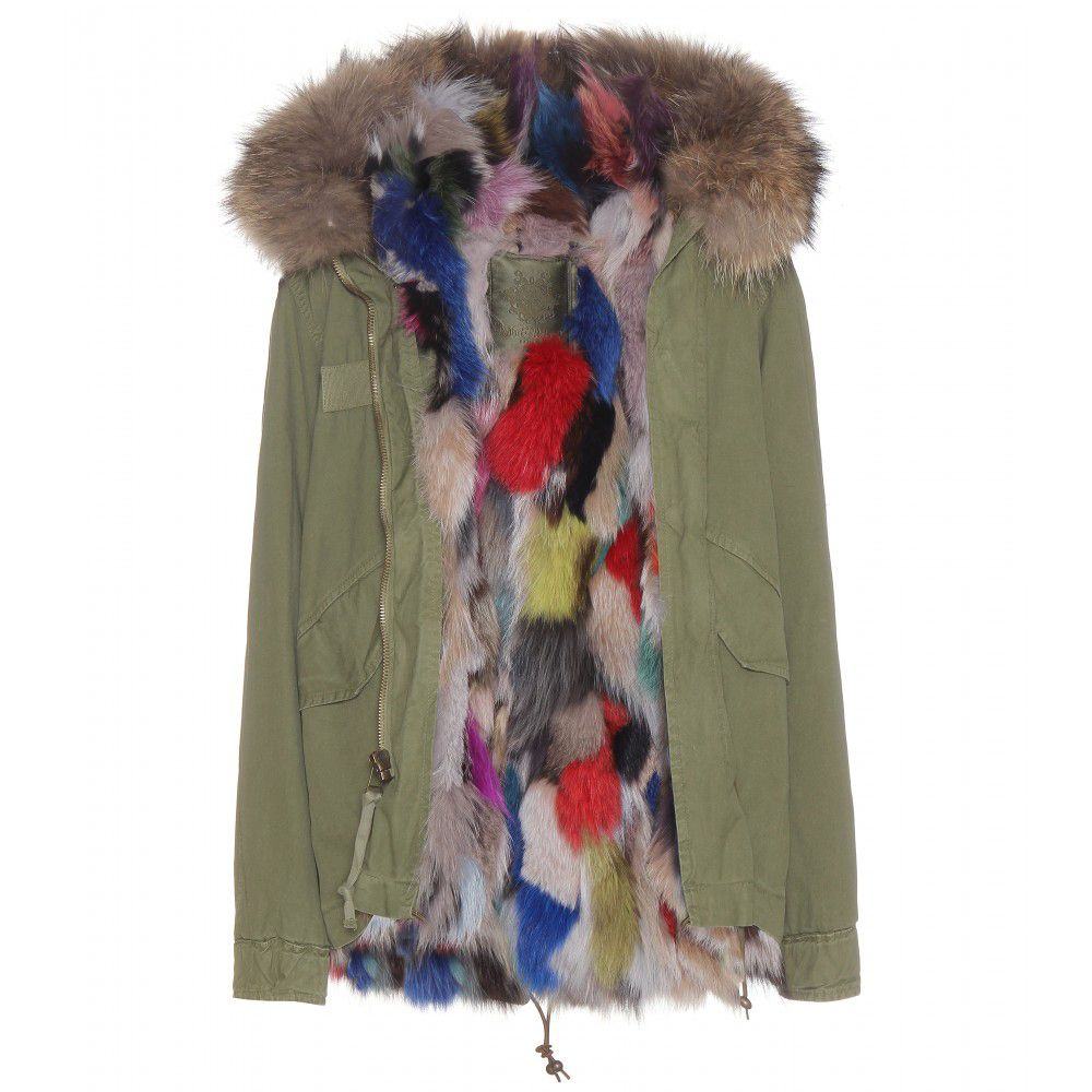 Mr & Mrs Italy multicoloured fur-lined army parka available at MYTHERESA.com