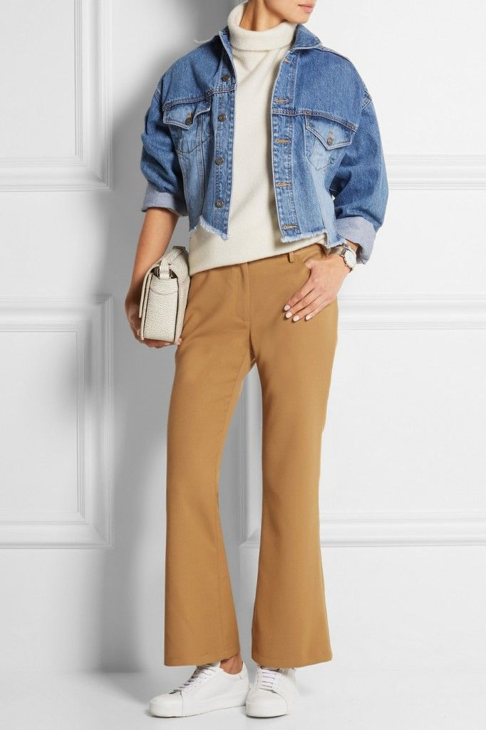 LAIA'S PICK: Opening Ceremony crpped stretch-woven flared pants available at NET-A-PORTER