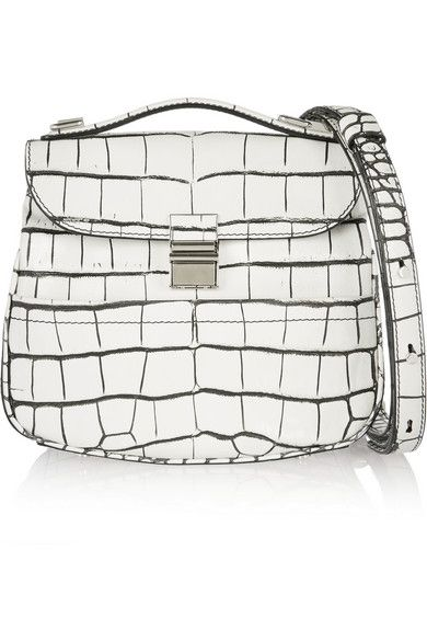 Proenza Schouler Kent mini croc-effect leather shoulder bag available at NET-A-PORTER