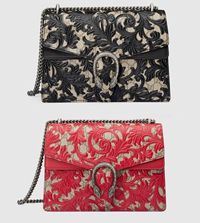 Gucci Dionysus black arabesque shoulder bag available at GUCCI-COM