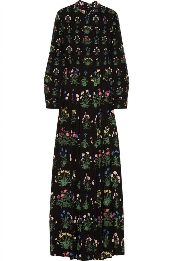 Valentino Pre-Fall 2015 floral-print silk-georgette gown available at NET-A-PORTER