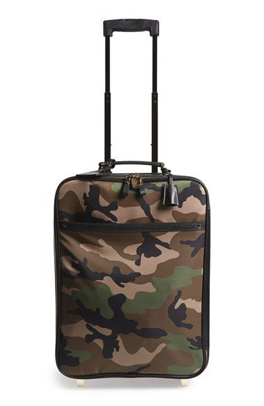 Valentino Rockstud camo print roller suitcase available at NORDSTROM