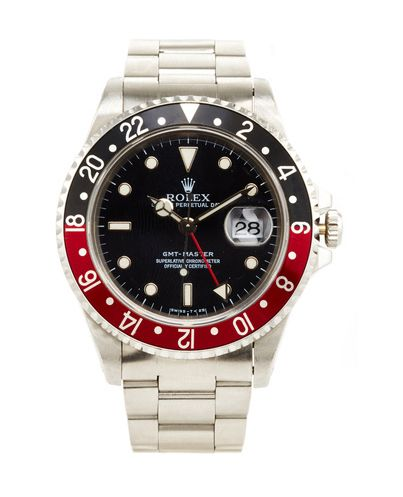 Vintage Stainless Steel Rolex GMT Master Wristwatch