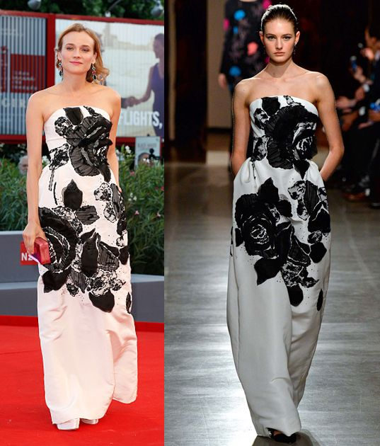 "Diane Kruger in Oscar de la Renta FW15 at the ""11 Minutes"" première."