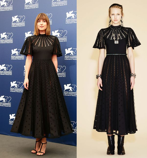 "Dakota Johnson in Valentino Resort 2016 - ""Black Mass"" Photocall during the 72nd Venice Film Festival"