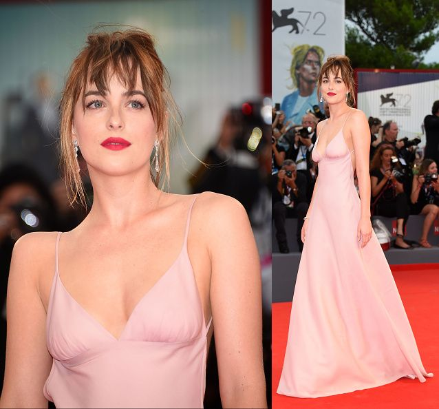 Dakota Johnson attends a premiere for 'Black Mass' during the 72nd Venice Film Festival on September 4, 2015 in Venice, Italy. (Photo by Venturelli/WireImage)