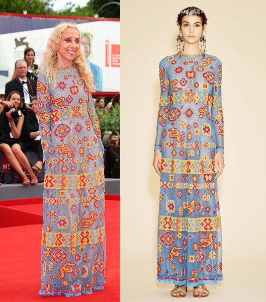 Franca Sozzani in Valentino Resort 2015