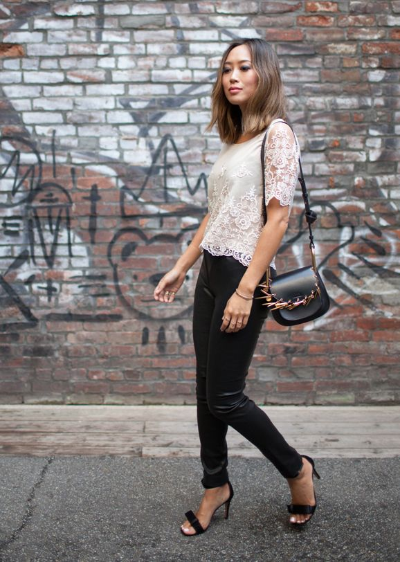 Aimee Song loves her Chloé mini embellished leather shoulder bag!