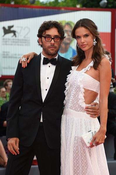 Alessandra Ambrosio and Lorenzo Serafini hit the red carpet at the 72nd Venice Film Festival Opening Ceremony