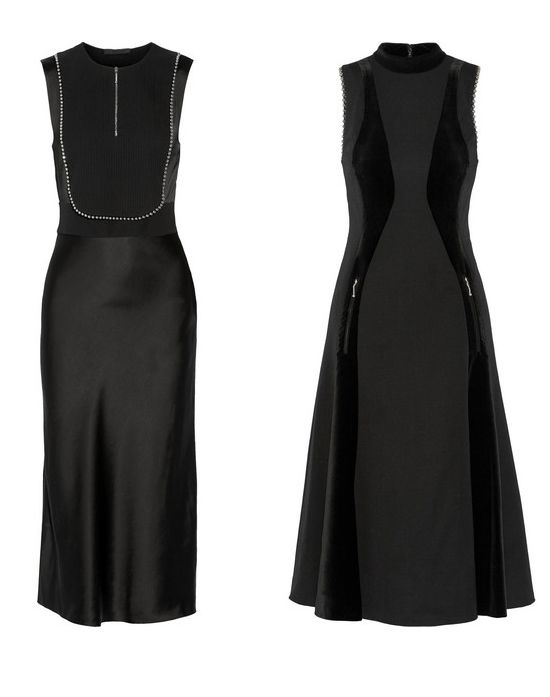 Alexander Wang velvet-paneled embellished wool-twill dress